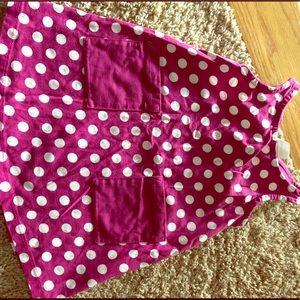 Hannah Anderson burgundy polka dot dress